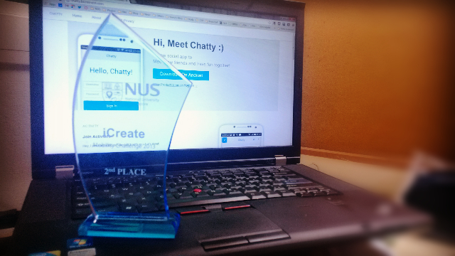 Chatty won the 2nd place in NUS iCreate 2013